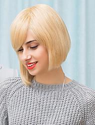 bob clásico peinados pelucas sin tapa cabello humano natural recta 2017