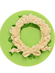 DIY Silicone Mold Wreath Cake Model Cake Decoration Handmade Fondant Mould for Art and Craft
