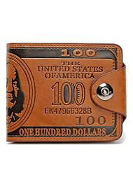 Men Wallet PU Metal Casual