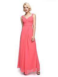 LAN TING BRIDE Ankle-length Straps Bridesmaid Dress - Elegant Sleeveless Chiffon