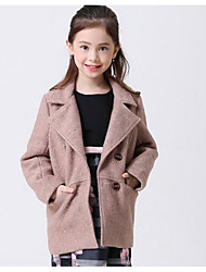 Girl Going out Casual/Daily Holiday Solid Suit & Blazer,Cotton Linen Tapestry satin Winter Fall Long Sleeve