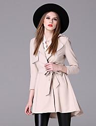 Sign 2016 European station Hitz nine points sleeve coat female long coat