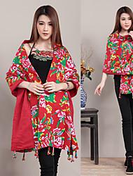 Ethnic Chinese style handmade 20 Pankou fringed shawls female scarf scarf sunscreen
