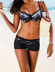Bikini Da donna Fantasia floreale Con lacci Con laccetti Poliestere