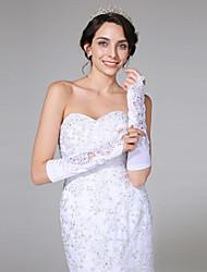 Ellenbogen Länge Ohne Finger Handschuh Satin Brauthandschuhe
