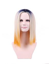 2017 mais recente classificação marrom dourado no novo cabelo curto cabelo liso de alta temperatura peruca fio