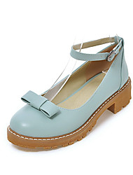 Women's Sandals Spring Summer Fall Other Leatherette Wedding Office & Career Party & Evening Dress Casual Low Heel BowknotBlack Blue Pink
