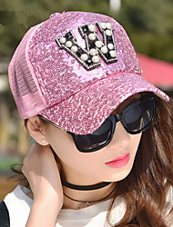 Fashion Spring And Summer New Pearl Pearl Sequins Net Hat Women 'S Tide Baseball Cap Sun Hat