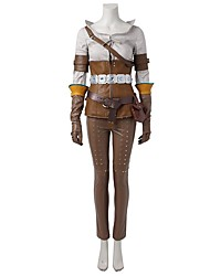 Inspirado por Assassino Ace Vídeo Jogo Fantasias de Cosplay Ternos de Cosplay Tops Cosplay / Bottoms Miscelânea Marrom BegeCamisa Calças