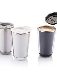 Transparente Clássico Artigos para Bebida, 350 ml Isolamento térmico Anti-Vazamento Aço Inoxidável Plástico Café Água Copo