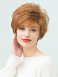 perruque courte populaire pelucheux naturelle ondulée humaine de cheveux