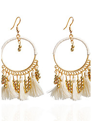 Drop Earrings Hoop Earrings Earrings Set Jewelry Women Wedding Party Casual Alloy Acrylic 1 pair White Red Dark Navy Multi Color