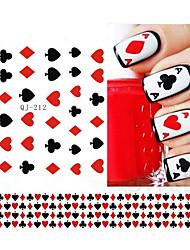 1pcs Autocollant d'art de clou Autocollants 3D pour ongles Maquillage cosmétique Nail Art Design