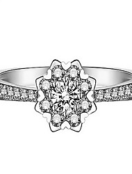 Ring Non Stone Party Daily Jewelry Sterling Silver Women Ring 1pc,15 White