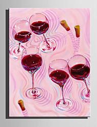 Peint à la main Abstrait Nourriture Peintures à l'huile,Moderne Style européen Un Panneau Toile Peinture à l'huile Hang-peint For