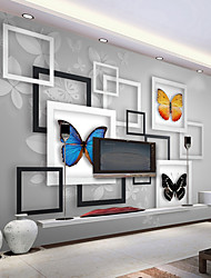 Art Deco Wallpaper For Home Wall Covering Canvas Adhesive required Mural Picture Frame Butterfly Background XXXL(448*280cm)XXL(416*254cm)XL(312*219cm)