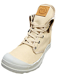Women's Boots Spring Fall Others Canvas Casual Low Heel Lace-up Black Red Gray Beige Others