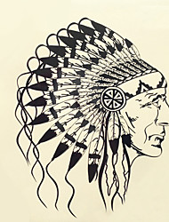 1шт Хэллоуин татуировки пасты цвет татуировки наклейки большую версию водонепроницаемый головной портрет