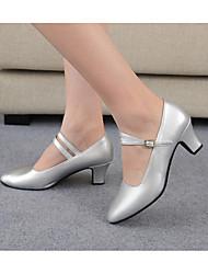 Sapatos de Dança(Preto Rosa Vermelho Prateado) -Feminino-Personalizável-Latina