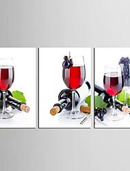 Холст Set Продукты питания Отдых Европейский стиль Классика,3 панели Холст Вертикальная Печать Искусство Декор стены For Украшение дома