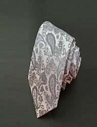 Зажим для галстука ( Серый , Полиэстер ) Однотонный