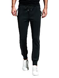 Hombre Tallas Grandes Delgado Pitillo Chinos Pantalones de Deporte Pantalones,Un Color Playa Deportes Casual/DiarioCosecha Sencillo