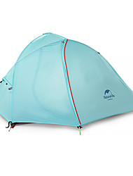Naturehike 2 persone Tenda Doppio Tenda da campeggio Antivento Anti-pioggia >3000mm per Escursionismo Campeggio CM Una camera Nylon