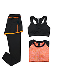 Women's Tracksuit Short Sleeves Quick Dry Breathable Sports Bra T-shirt Pants / Trousers Top Clothing Suits for Yoga Exercise & Fitness