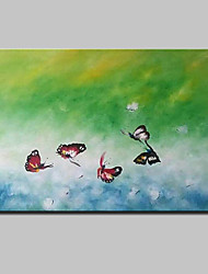 Hand-Painted Butterfly Animal Oil Painting On Canvas Modern Abstract Wall Art Picture For Home Decoration Ready To Hang