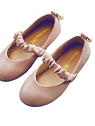 Girl's Boat Shoes Flower Girl Shoes PU Casual Pink Gray