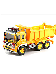 Fire Engine Vehicle Pull Back Vehicles 1:25 Metal Plastic Yellow