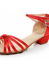 Sapatos de Dança(Preto Azul Vermelho) -Feminino-Personalizável-Latina
