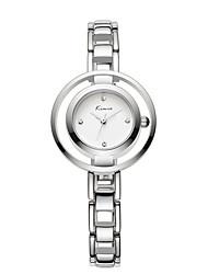 Women's Skeleton Watch Quartz Alloy Band Elegant Silver Gold Brand