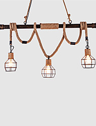 Pendant Light ,  Rustic/Lodge Vintage Retro Painting Feature for Mini Style Metal Dining Room Kitchen Entry Hallway Garage