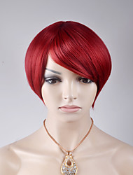 2017 latest European and American short paragraph oblique bangs BOBO head wine red high temperature wire wig