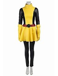 Costumes de Cosplay Costume de Soirée Bal Masqué Pour Halloween Superhéros Cosplay Cosplay de Film Noir Jaune MosaïqueHaut Jupe Ceinture