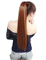 110г 1шт 22 '' обернуть вокруг клип в хвостик на наращивание волос прямой хвостик волосы кусок 30 #