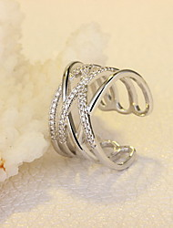 Ring Non Stone Daily Casual Jewelry Silver Women Band Rings 1pc,One Size Gold Silver