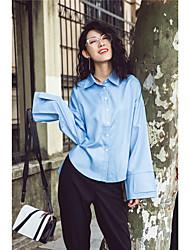Lampen Grand Prix von Europa 2016 Frühling und Herbst neue europäische Waren Frauen&# 39; s Art und Weise feste Farbe Langarm-Shirt