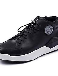 Herren-Sneaker-Lässig-PUKomfort-Schwarz