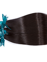 Natural Color Hair Weaves Indian Texture Straight 12 Months 3 Pieces hair weaves 300g