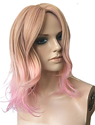 Deep Wave Wig Pink to Blonde Wig Party Hairstyle Cosplay Wigs Mix Color Hairstyle