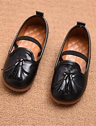 Mädchen-Loafers & Slip-Ons-Lässig-PUKomfort-Schwarz Braun Rot