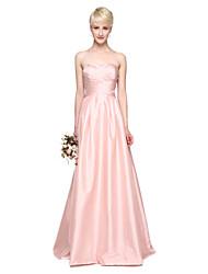 2017 Lanting Bride® Floor-length Taffeta Elegant Bridesmaid Dress - A-line Sweetheart with Pleats