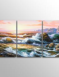 canvas Set Impressão em tela sem moldura Paisagem Clássico,3 Painéis Tela Horizontal Impressão artística Decoração de Parede For