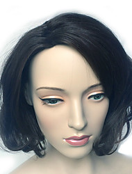 Women's Wig Short Wavy Side Part Wig Costume Cosplay Wigs Hairstyle Black Heat Resistant Wig