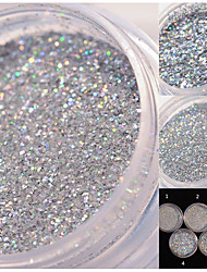 1 Box Holographic Glitter Nail Art Decoration Holo Glitter Dust Powder Manicure