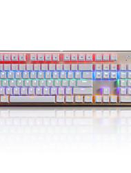 teclado mecânico Teclado de Gaming USB eixo verde backlight multi cor Ajiazz AK40S
