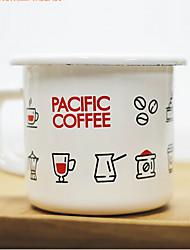 Vintage Drinkware, 150 ml Portable Enamel Coffee Milk Coffee Mug Travel Mugs