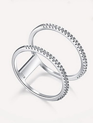Ring Silver Fashion Luxury Jewelry Silver Jewelry Daily Casual 1pc